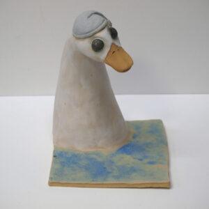 Vaciabolsillos y porta-mascarillas con la figura de un pato