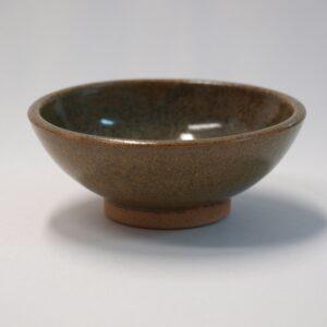 Cuenco de cerámica en gres de color oliva